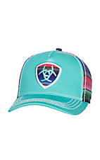 Ariat Turquoise Serape Patch Snap Back Cap
