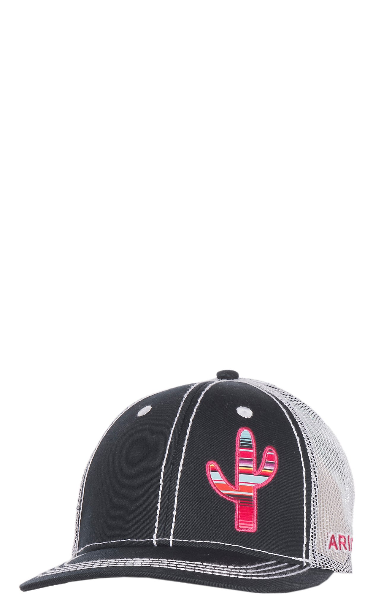 Ariat Women s Black with Pink Serape Cactus Hat  a5af7e97b3e