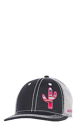 Ariat Women's Black with Pink Serape Cactus Hat