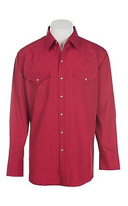 83501c0efa04 Ely Cattleman Men's Solid Red Long Sleeve Western Shirt