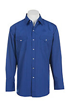 Ely Cattleman L/S Tone on Tone Solid Royal Shirt