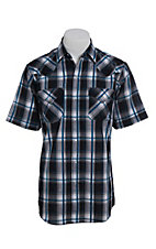 Ely Cattleman Men's Black Plaid Short Sleeve Western Shirt