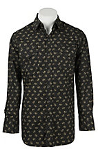 Ely Cattleman Men's Black Paisley Western Snap Shirt