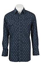 Ely Cattleman Men's Navy Paisley Western Snap Shirt