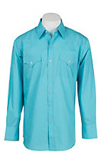 Ely Cattleman Men's Turquoise L/S Western Shirt