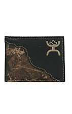 Hooey Men's Black with Camo Canvas Inlay Bi-Fold Wallet