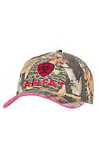 Ariat Women's Camo with Cherry Embroidered Logo Cap