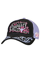 Blazin Roxx Black & Lavender All Cowgirl No Bull Cap