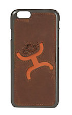 HOOey Brown with Orange Logo Inlay Iphone 6 Shell Case