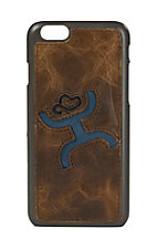 HOOey Brown with Blue Logo Inlay Iphone 6 Shell Case