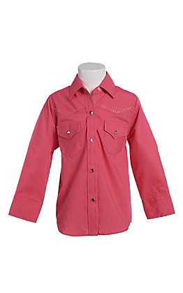 Ely & Walker Cumberland Outfitters Toddler Girls Fuchsia Rhinestone Horse Western Shirt