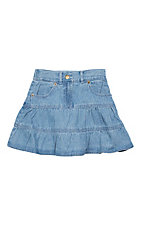 Cumberland Outfitters Girls Light Denim Skirt