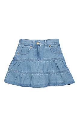 Cumberland Outfitters Girls Light Denim Skirt