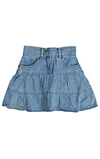 Cumberland Outfitters Girl's Tiered Chambray Skirt