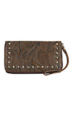 Coral Ridge Brown Holly Zip Around Wallet