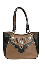 Coral Ridge Brown Holly Satchel 1574248B