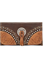 American West Ladies Chestnut Ridge Tri-Fold Wallet