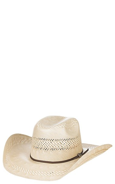 Cavender s Cowboy Collection 20X Two Tone Vented Crown Straw Cowboy Hat  494f195f0a57