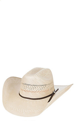 Cavender's Cowboy Collection 20X Two Tone Vented Crown Straw Cowboy Hat