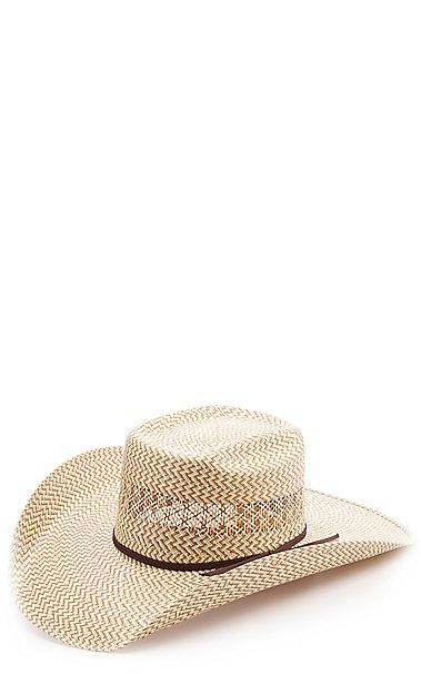 Cavender s 3 Tone Zig-Zag Poly Vent Straw Cowboy Hat  68bc9980374