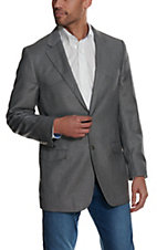 Red Sky Men's Solid Grey Two Button Sport Coat