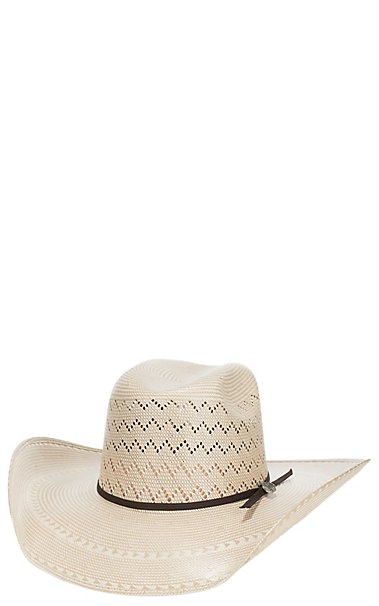 090cb6f85ab Cavender s Cowboy Collection 20X Two Tone Zigzag Vented Straw Hat ...