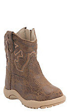 Roper Infant Distressed Brown Round Toe Western Boots