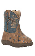 Roper Infant Tan and Blue Round Toe Western Boots