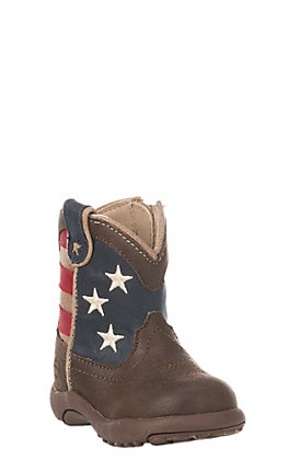 Roper Infant USA Flag Round Toe Boot