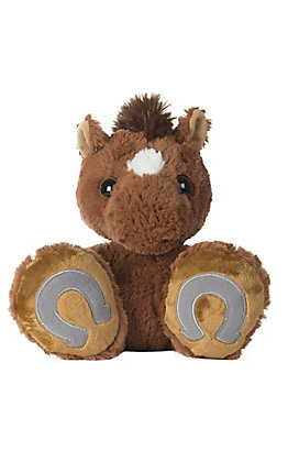 Aurora Trots Brown Taddle Toes Stuffed Horse