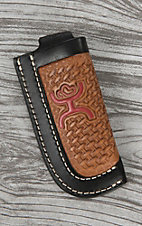 HOOey Tan with Red Logo and Black Outline Knife Sheath