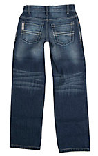 Cinch Boy's Medium Wash Sawyer Slim Fit Boot Cut Jeans