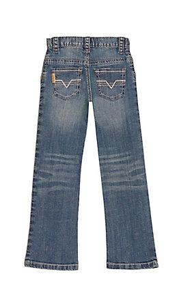 Cinch Boys' Dark Wash Slim Fit Straight Leg Stretch Jeans (4-7)