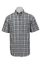 Cinch S/S Mens Arena Flex Plaid Shirt 1704002
