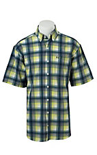 Cinch S/S Mens Arena Flex Plaid Shirt 1704003