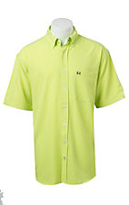 Cinch S/S Mens Arena Flex Lime Shirt 1704004