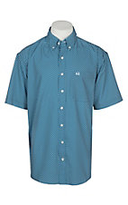 Cinch Men's Dark Teal Geo Print Arena Flex Woven Western Shirt