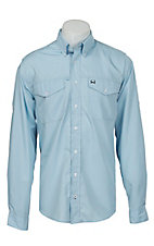 Cinch L/S Mens Arena Flex Solid Light Blue Shirt 1705002