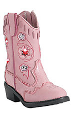 XANRoper Toddler Pink Light Up Western Fashion Boots