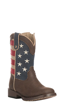 Roper Toddler USA Flag Square Toe Boot