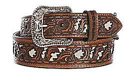 Ho Oey Men's Wide Taper Bone Cut Out Western Belt Amazing Quality And Good Looking Belt by Hooey