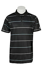 Cinch Tech Men's Black Stripe Arena Flex Polo