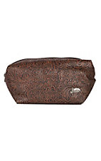 Justin Women's Large Tooled Cosmetic Bag
