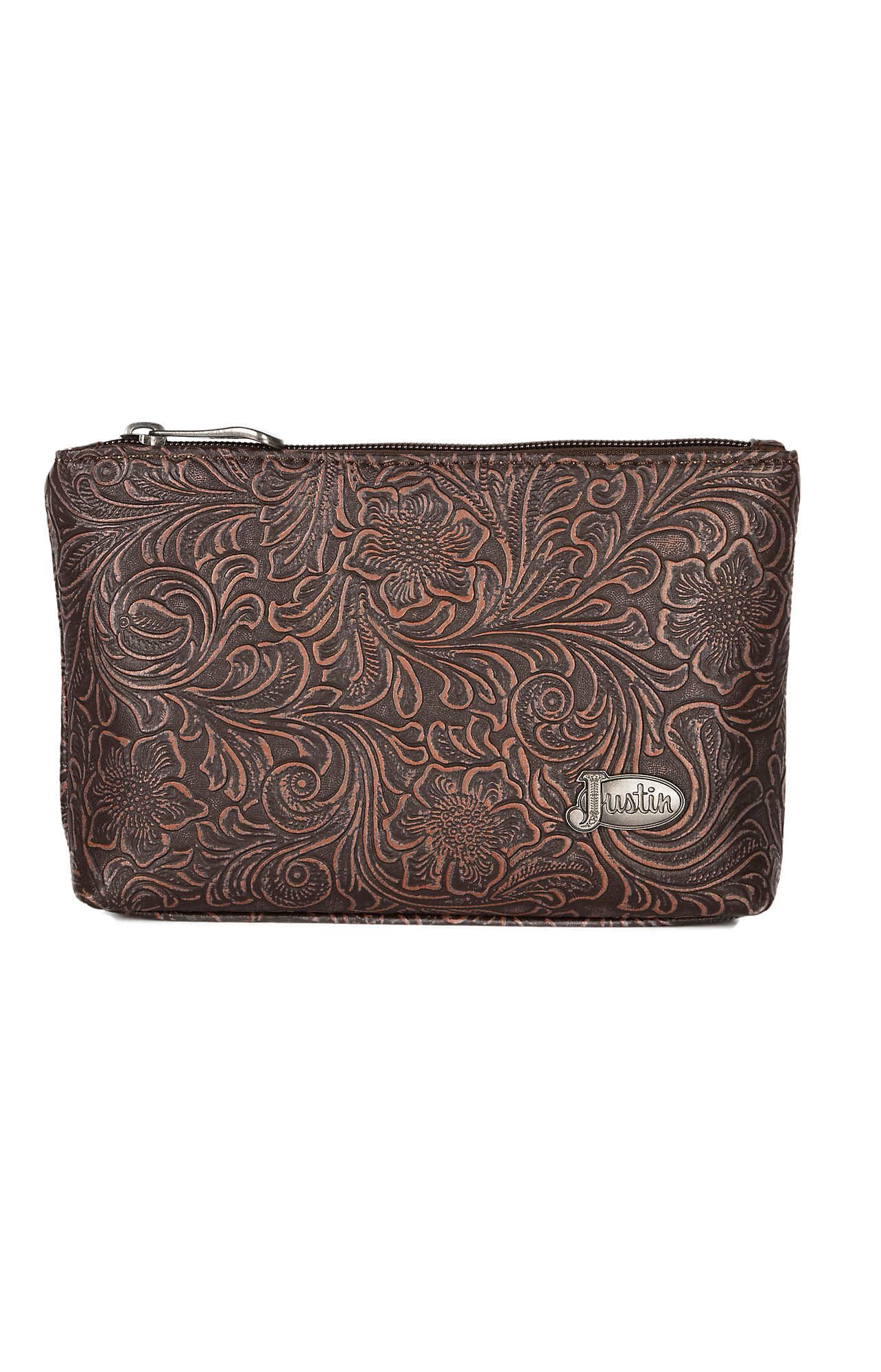 92b33aeb2e2 Justin Small Tooled Cosmetic Bag   Cavender s