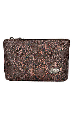 Justin Small Tooled Cosmetic Bag