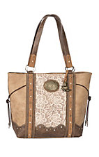 Justin Concealed Carry Light Tan Lace Handbag