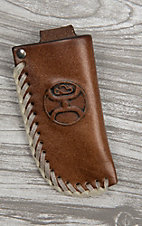 HOOey Brown with Roughy Logo Knife Sheath