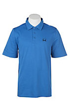 Cinch Men's ArenaFlex Solid Blue Short Sleeve Polo Shirt