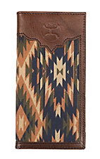 HOOey Aztec Canvas Overlay Rodeo Wallet/Check Book
