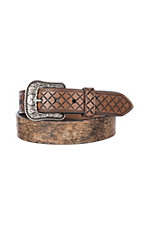 HOOey Men's Hairon Diamond Billet Western Belt